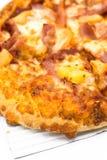 Ensemble hawaïen de boîte à pizza de coût- d'isolement sur le fond blanc image libre de droits