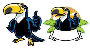 Ensemble heureux de bande dessinée de toucan illustration libre de droits