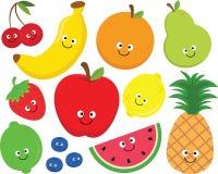 Ensemble heureux de Clipart de fruit illustration de vecteur