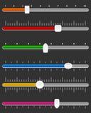 Ensemble horizontal de barre de glisseur ou de voie Image stock