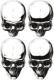 Ensemble humain blanc et noir de tatouage de crâne Image stock