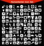 Ensemble humanitaire d'icône Photographie stock