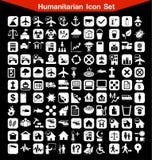 Ensemble humanitaire d'icône Images stock