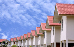 Ensemble immobilier privé résidentiel Image stock