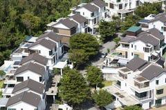 Ensemble immobilier privé semi isolé photos libres de droits
