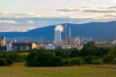 Ensemble industriel pétrochimique, République Tchèque Photos stock