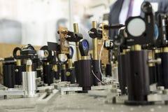 Ensemble industriel puissant d'équipement de laser image stock