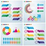 Ensemble infographic d'affaires Peut être employé pour la disposition de déroulement des opérations, banne Photographie stock libre de droits