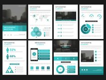 Ensemble infographic de calibre d'éléments de présentation d'affaires, conception d'entreprise de brochure de rapport annuel  illustration de vecteur