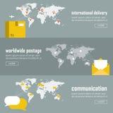 Ensemble infographic de calibre d'illustration de Web Image libre de droits