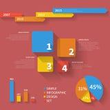 Ensemble infographic propre simple 001 Photographie stock libre de droits