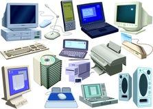 Ensemble - informatique Photos stock