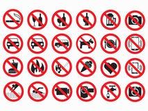 Ensemble interdit de vecteur de signes illustration libre de droits