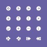 Ensemble inverti d'icône de flèches illustration de vecteur