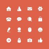 Ensemble inverti d'icône de site Web illustration de vecteur
