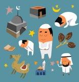 Ensemble islamique plat Photo libre de droits