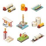 Ensemble isométrique d'industrie pétrolière  illustration libre de droits