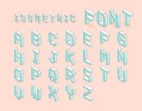 Ensemble isométrique de police ensemble isométrique de police de pixel numérique sto de vecteur Photographie stock libre de droits