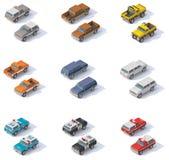 Ensemble isométrique de SUVs de vecteur illustration stock