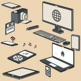ensemble isométrique de vecteur des dispositifs 3d Photographie stock