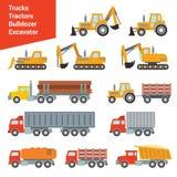 Ensemble isométrique plat d'icône de transport de construction de la ville 3d illustration stock