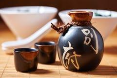 Ensemble japonais de saké photo libre de droits