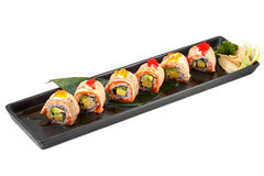 Ensemble japonais de sushi de maki Photo stock