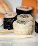 Ensemble japonais savoureux de sushi Photos libres de droits