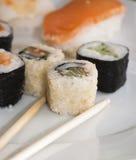 Ensemble japonais savoureux de sushi Image stock