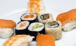Ensemble japonais savoureux de sushi Photo libre de droits