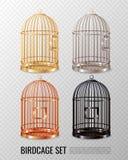 Ensemble jaune canari de la cage à oiseaux 3D illustration stock