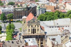 Ensemble of the Jesuit Church in Lviv, Ukraine Royalty Free Stock Photography