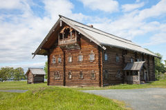 Ensemble of Kizhi Pogost and objects of wooden architecture. Royalty Free Stock Images