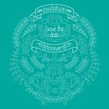 Ensemble, laurier, guirlandes, flèches, rubans, coeurs, fleurs et labels de graphique de mariage dans le vecteur Photographie stock libre de droits