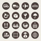 Ensemble logistique d'icône Images libres de droits