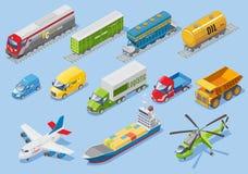 Ensemble logistique isométrique de transport Images libres de droits