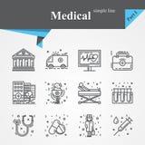 Ensemble médical d'icône d'ensemble illustration libre de droits