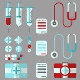 Ensemble médical de substance Photo libre de droits