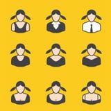 Ensemble mélangé d'avatar pour des femmes illustration de vecteur