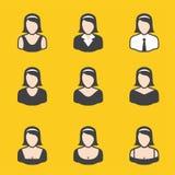 Ensemble mélangé d'avatar pour des femmes illustration stock