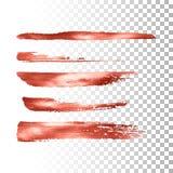 Ensemble métallique de course de pinceau Photo stock