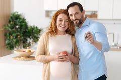 Ensemble mûr d'apparence d'homme et de femme de clés Photo stock