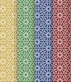 Ensemble marocain islamique sans couture de modèle Ornement géométrique arabe Texture musulmane Vintage répétant le fond Vecteur Images libres de droits
