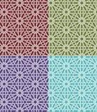 Ensemble marocain islamique sans couture de modèle Ornement géométrique arabe Texture musulmane Vintage répétant le fond Vecteur Photos libres de droits