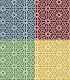 Ensemble marocain islamique sans couture de modèle Ornement géométrique arabe Texture musulmane Vintage répétant le fond Vecteur Photo libre de droits