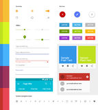 Ensemble matériel d'ui de conception Éléments modernes d'ui Ensemble de graphismes simples Kit d'Android UI Photographie stock libre de droits