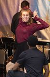 Ensemble Members from `The Prom` at 2019 Stars in the Alley`. Brittany Zeinstra and Fernell Hogan, limber actors from `The Prom,` perform at Stars in the Alley royalty free stock photo