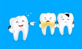 Ensemble mignon d'expression de caractère de dent, grand pour votre conception illustration de vecteur