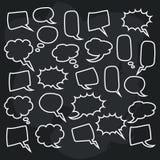 Ensemble mignon d'illustration vide de conception de la parole de bulle Image stock