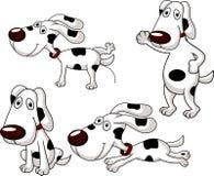 Ensemble mignon de bande dessinée de chien Images stock
